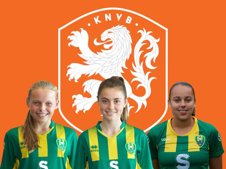 Drie speelsters Jong ADO Vrouwen opgenomen in definitieve selectie Oranje O17