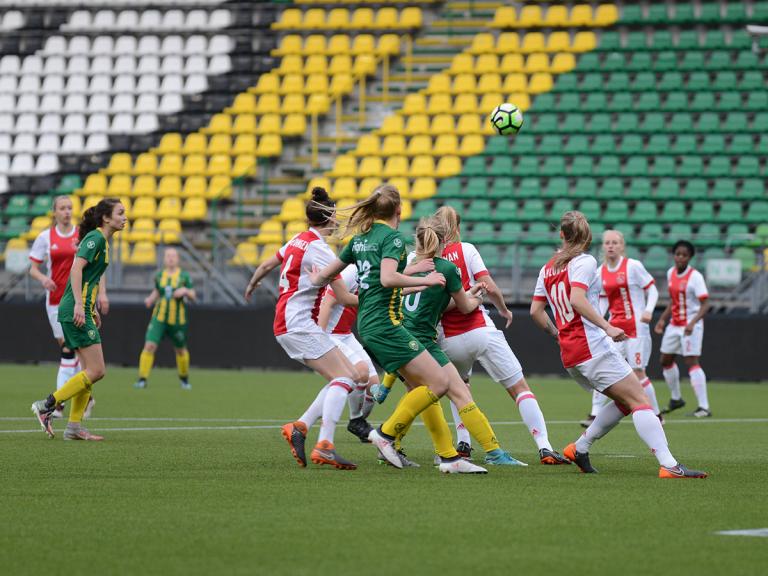 Kwartfinale eindstation ADO Den Haag Vrouwen
