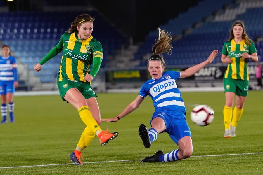ADO Vrouwen na strafschoppen uitgeschakeld in KNVB Beker