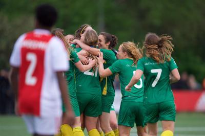 ADO Den Haag Vrouwen dwingt Ajax tot troonsafstand