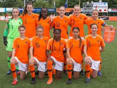 Louise van Oosten met Oranje O15 tweemaal tegen VS