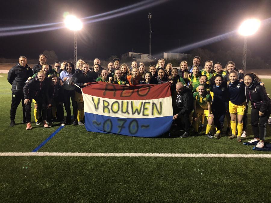 Dag 4:  ADO Den Haag Vrouwen begint 2020 met vuurwerk