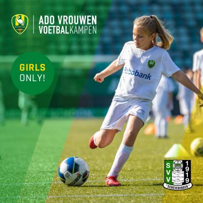 ADO Den Haag Vrouwen Voetbalkamp bij SVV Scheveningen