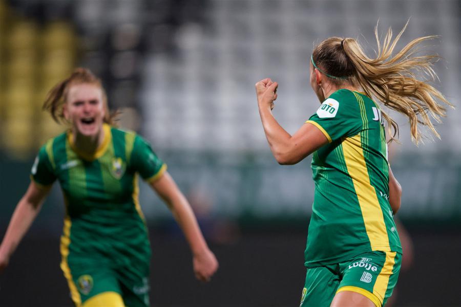 ADO Den Haag Vrouwen viert derde thuisoverwinning zonder fans