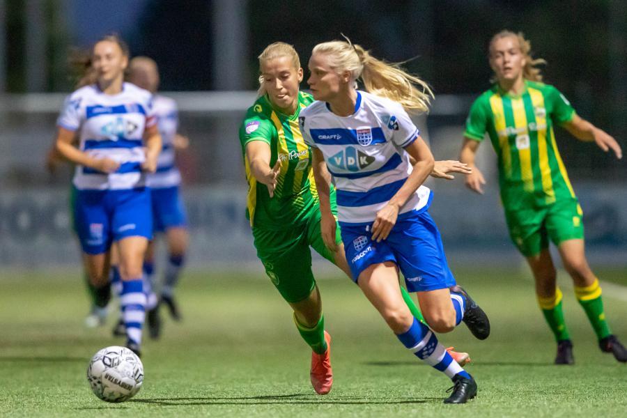ADO Den Haag Vrouwen verliest in Zwolle